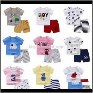 Baby, & Maternity Drop Delivery 2021 Baby Outfits Cotton T Shirt Shorts 2Pcs Set Cartoon Children Clothes Sets Summer Kids Clothing 23 Design