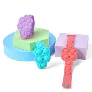 DHL Push Bubble Fidget Toys Sensory Ring Bracelets Puzzle Press Finger Bubbles Stress Bracelet Wristband Gifts CJ02