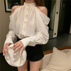 Shirt Female Design Sense Niche Light Familiar Goddess Fan French Top Fashion Long Sleeve 2021 Product Autumn Casual Blouse Women's Blouses