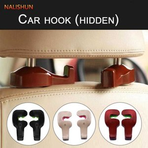 1 Pair Car Seat Bag Hook Multi-use Vehicle Concealed Headrest Hangers Universal Auto Fastener Clip Car Styling Accessories
