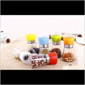 Herb & Spice Tools Salt And Pepper Muller Hand Mill Manual Grinding Grinder Bottle Pot Glass Kitchen Tool Sn12I N15Jj