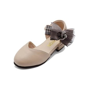 Sneakers Kids Shoes Casual Girls Dress Shoe Spring Autumn Summer Fashion Princess Party Bowknot Leather Teenage Children Footwear B4673