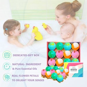 Natural Organic Colorful Fizzy Bath Bombs Gift for Body Spa Soap osmanthus