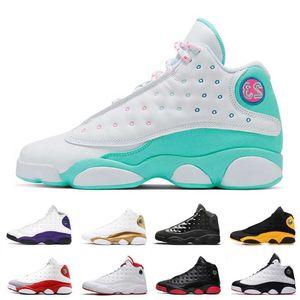 BLANCH SOAR Vert Rose 13 13S Mens Basketball Chaussures Barons Bred Bred Bred Black Cat Femmes Hommes Derniers Baskets Baskets Sports Chaussures 5.5-13