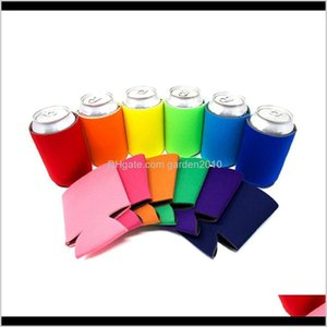 Other Solid Color Neoprene Foldable Stubby Holders Beer Cooler Bags For Wine Food Cans Cover Kitchen Tools Rra3544 Ycf1F Lesqb