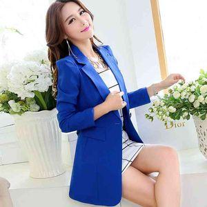 Pinky Is Black women blazer plus size women clothing outerwear medium-long slim elegant long-sleeve suit jacket