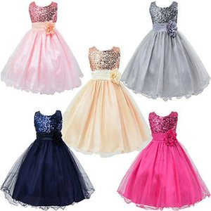 Девушка платья девушки вечеринка детей задержанные без рукавов длинные с цветочной группой дети формальная свадьба выпускное платье Vestido