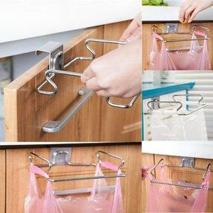 Cupboard Door Back Hanging Trash Rack Storage Kitchen Garbage Rubbish Bag Can Holder Cabinet Clips