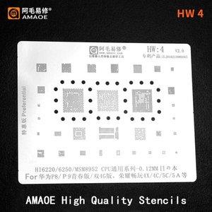 Cell Phone Repairing Tools HI6250 MSM8952 HI6220 CPU For Huawei P8 P9 Lite Honor 4X 4C 5C 5A IC CHIP BGA Reballing Stencil Template