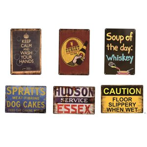Soup Of The Day Whiskey Metal Sign Plate retro metal tin Poster Pub Cafe Bar Club Garage Restaurant Car Station Vintage BWB6147