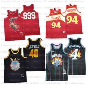 BR MN REMIXES Jerseys de baloncesto The Bay 40 Sick Widit Charlotte 4 Dreamville Chicago 999 Kast 94 Dungeon
