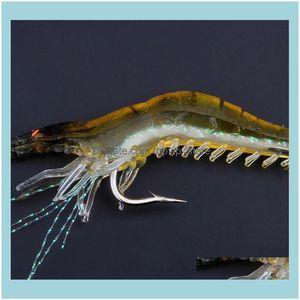 Iscas desenhos de pesca esportes outdoorshigh simulation isca suave com gancho isca falsa biônico shi pendurado camarão gota entrega 2021 7ohb1
