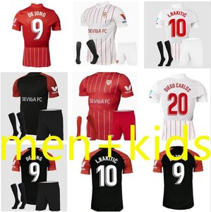 Sevilha 21-22 Sevilha Home Futebol Jerseys 21 22 Ocampos Navas sempre Banega de Jong El Haddadi Torres Rakitic Kounde Camisa de futebol Men + Kids Kit