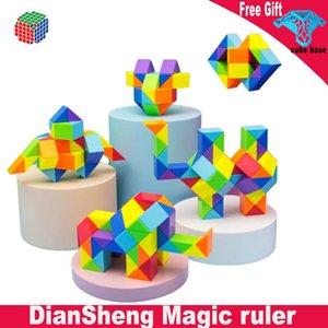 DianSheng Magic ruler 24 36 48 60 72 Segments Magic Cubes Diy Elastic Changed Popular Twist Transformable Kid Puzzle Toy