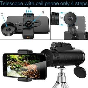 Binocolo del telescopio Lente HD Monoculare con supporto per telefono intelligente Zoom Chiaro Campo di visualizzazione Pocket Portable Outdoor