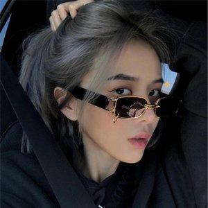 Ins Popular Fashion Small Rectangle Women Luxury Sunglasses Designer Vintage Punk Men Sun Glasses Shades UV400