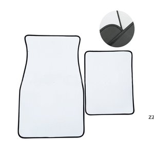 White Sublimation Blanks Carpets Anti Slip Neoprene Car Floor Mat Soft Protector Foot Front Universal Fit Most Auto Cars Trucks HWE9413