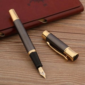 High Quality 720 Fountain Pen Golden Metal Gray Stationery Office School Supplies Pens