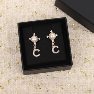 2021 Top quality drop earring with diamond and nature shell for women wedding jewelry gift have box stamp PS4817