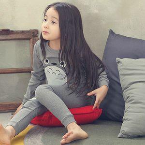 Factory96H0Totoro Syie Kids Moon Girls Cute Pajamas наборы Pajamas детей 100% хлопок Sleewwura Baby Boy Homewear Nightwea