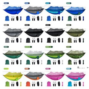 Mosquito Net Hammock 16 Colors 260*140cm Outdoor Parachute Cloth Field Camping Tent Garden Camping Swing Hanging Bed FWD10064