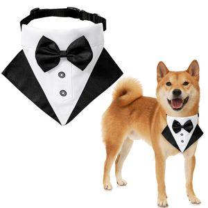 Wedding terno pet's saliva toalha colarinho pet triangular lenço pet tie tie wedding terno triângulo toalha