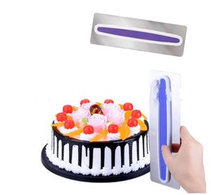 Stainless Steel Cake Tool Scraper Smoother Adjustable Fondant Spatulas Edge Cream Decorating Stand DIY Bakeware Tableware Plastic Handle Kitchen Supply