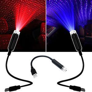Adjustable USB romantic decoration laser star effect Atmosphere Car USB star projector light