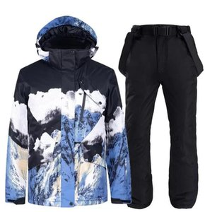 Skiing Jackets Snow Mountain Clothing Snowboard Suits For Men Women Couples Windproof Waterproof Ski Suit Overalls Jacket Pants