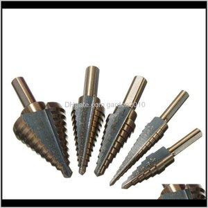 Bits Multiple Hole 50 Sizes Step Drill Bit Set + Aluminum Case U8Ov3 Mry94