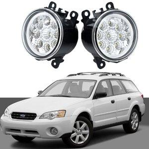 2x LED Carro Fog Light Luminária para Subaru Outback 2010-2012 Super Bright Montagem