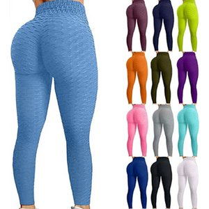 Famous TikTok Leggings Yoga Pants for Women High Waist Tummy Control Booty Bubble Hip Lifting Workout Running Tights
