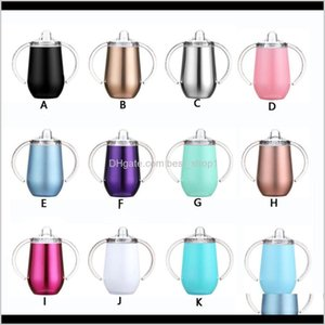 Mugs Sippy Cup Egg Mug Toddler Tumbler 2Function 9Oz 304 Stainless Steel Insulated Vacuum Double Wall Water Milk Thermos Glass Bottle L1Ghg
