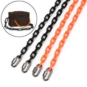 Designer Acrylic Chain Strap Orange Black 1.2cm Handbag Bag Purse Replacement Accessories Hardware 12mm Parts &