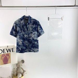 2021ss Spring and Summer Nouveau Coton de haute qualité Impression à manches courtes Panneau à col rond T-shirt Tableau: M-L-XL-XXL-XXXL Couleur: Noir Blanc XV18VC
