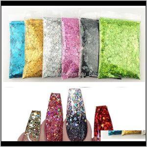 Mermaid Flakes Sparkly Holographic Mix Laser Hexagon Colorful Sequins Spangles Polish Manicure Nails Art Decoration Tz4H0 6Wayh