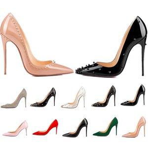Женские одежды Обувь с красным дном Высокие каблуки Женские роскоши дизайнеры Натуральные кожаные насосы Lady Sandals Свадебные днища с платформой коробки