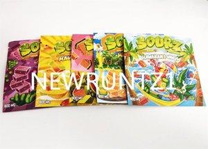 Bolsa de Embalagem 600mg Sourz Srawberry Srawberry Gummy Doces Resealable Ediblable Herb Zipper Dry Retail Pacote Mylar Mylar