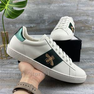 Top Qualität Freizeitschuhe Männer Frauen Plattform Chaussures Mattes Leder Tennis Haut Skateboarding Schuh Ace Biene Streifen Scarpe Stickerei Schlange