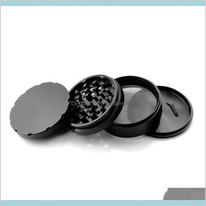 Other Smoking Accessories Household Sundries Home & Garden Formax420 100Mm 4 Parts Large Aluminum Herb Grinder Tobacco Black Color C01