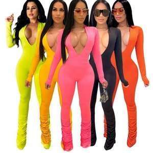 Women's Jumpsuits & Rompers Solid Heap Pant 2021 Wholesale Custom Fitness Jump Suit Bodycon Sexy Women One Piece And For Woman