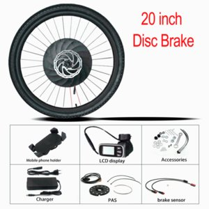 Electric Bicycle Ebike Conversion Hub Motor Wheel Kit 20 24 26 27.5 700C 29 Inch 36V 350W Front Rear E Bike From China