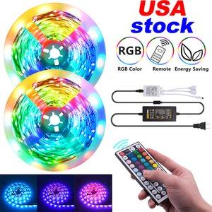 Led Strips 16.4ft 32.8ft 12V-5050 Lamp Beads RGB 44 Keys Remote Control 150LEDs 300LEDs suitable for outdoor, KTV, living room, bedroom ect.