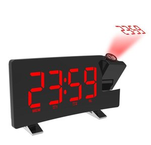 Other Accessories Clocks Décor Home Garden Drop Delivery 2021 1Set Digital Projector Alarm Fm Radio Clock Sn Timer Led Display Wide Curved Sc