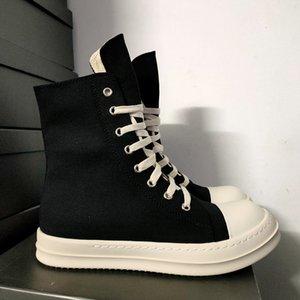 Dress Shoes Rick Black Thick Bottom Increase Dark Owens Mens Canvas Casual Short Boots Female Board Retro Dissol shoe XSOD