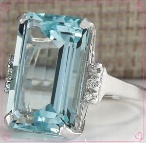 Cluster Rings Silver Color Ring Classic Exquisite Temperament Female Models Square Inlaid Zircon Hand Jewelry Birthday Gift