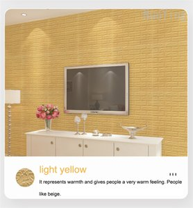 3D Stereo Simulation Stone Brick Wall Stickers Wallpaper Peel And Stick Waterproof Anti-collision Self Adhesive