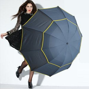 130cm Big Top Quality Umbrella Woman Rain Windproof Large Paraguas Male Women Sun 3 Floding Big Umbrella Outdoor Parapluie ZHL1318