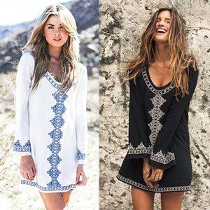 Womens Swimwear 2021 Verano Stitching Dress Beach Bohemian Summer Casual Cover Up Swimsuit Beachwear