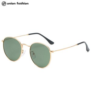Custom Digner Shad Metal Round Frame Polarized Sunglass for Men and Women